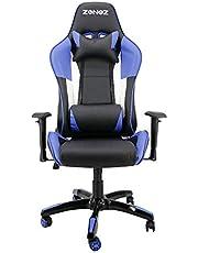 Sedia Gaming PC Sedia Ufficio Schienale Alto ergonomica inclinato rotelle ecopelle con Cuscino Lombare 150 kg Rosso