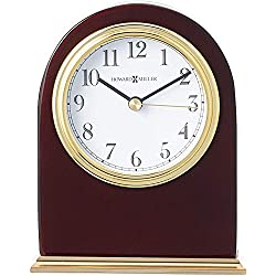 Howard Miller Monroe Table Clock 645-446 - Modern Wood with Quartz Movement