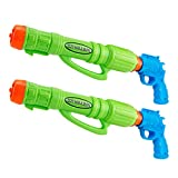 FEEBRIA Water Guns for Kids & Adults Soaker & Blaster Squirt Games (2-Pack) Toy Pistols with Very Large Capacity for Highpowered Shooter Supersoaker Outdoor Party Fun