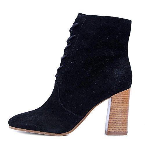 Marc Fisher Dames Edina Amandel Teen Mid-calf Mode Laarzen Zwart