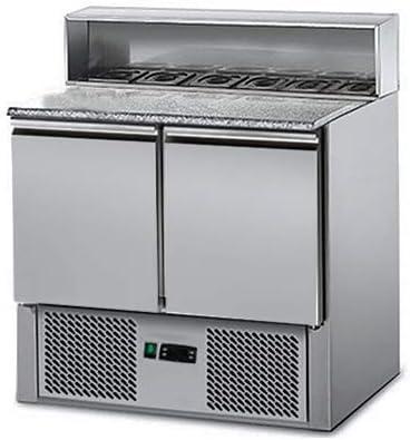 Saladette/Pizzakühltisch ECO - 0,9 x 0,7 m - mit 2 Türen