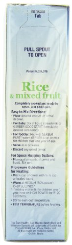 Gerber Cereal, Rice & Mixed Fruit with NutriProtect, 8-Ounce Boxes (Pack of 6) by Gerber Graduates (Image #4)