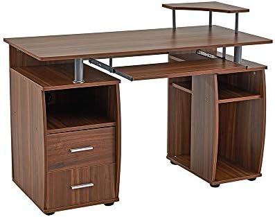 Ripiani In Legno Per Tavoli : Keinode scrivania per computer con ripiani armadio cassetti e