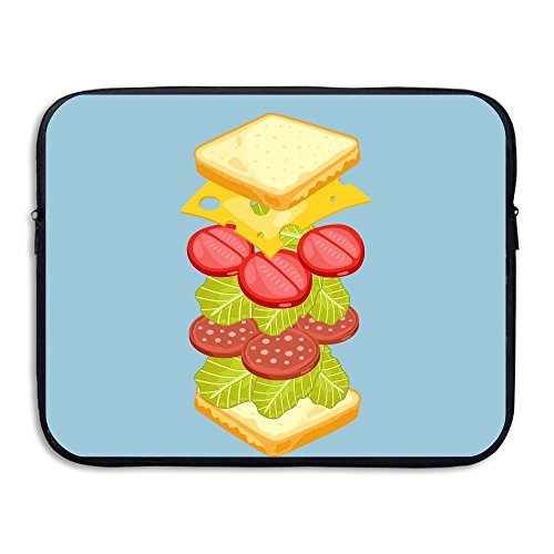 Waterproof Laptop Sleeve Pocket 13-15 Inch Macbook Air Pro Case Happy Toast Butter Laptop Sleeve Bag Cover For All 13 Inch Computer Ultrabook Notebook]()