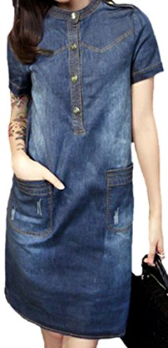 erdbeerloft - Vestido - Opaco - para mujer azul oscuro