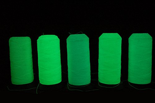 Neomark 5 Spools Different Colors Glow In The Dark Embroidery Thread