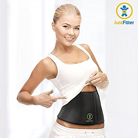 Waist Trimmer Belt For Men & Women - More Fully Adjustable Than Other Waist Slimming Ab Belts - Provides Best Support For Lower Back & Lumbar - Results Guaranteed!