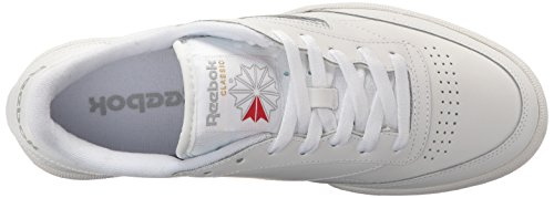 Reebok Men's Club C 85 Fashion Sneaker Int-white/Sheer Grey buy cheap footaction cOb0RZpbN3