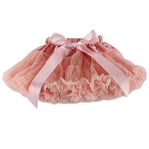 Wennikids Little Girl's Dance Chiffon Pettiskirts Tutu Assorted Size and Color XX-Large Peach 105 Peach
