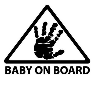 LeSo  /© Baby on Board Auto Aufkleber Car Sticker Warnung S041