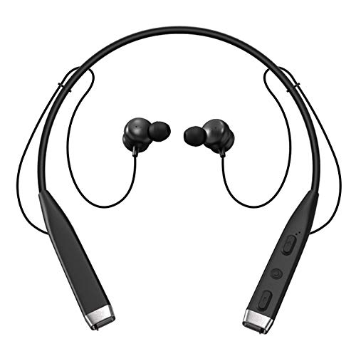Vidgoo Bluetooth Headphones Wireless Sports Earphones Rechargeable Waterproof HD Stereo in Ear Earbuds Gym Running Workout Noise Canceling Headsets -Black