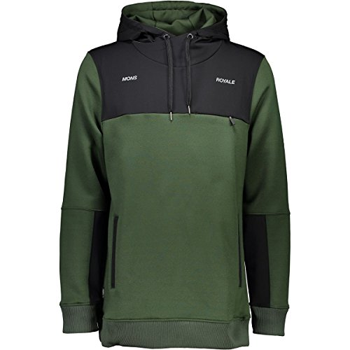 on Hoodie - Men's Forest Green/Black, S ()