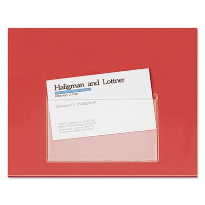 4 Top Load Card Holders - Hold IT Poly Business Card Pocket, Top Load, 3 3/4 x 2 3/8, Clear 10/Pack (4 Pack)