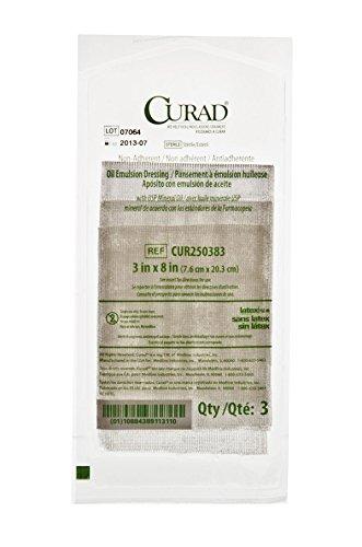 (Curad CUR250383HH Dressing, Gauze, Oil Elms, 3