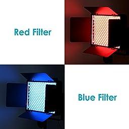 Neewer Transparent Color Correction Lighting Gel Filter for Photo Studio Strobe Flash Light and LED Light (Red, Yellow, Orange, Green, Purple, Pink, Light Blue, Dark Blue)