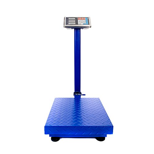 Industrial Platform (660lbs Digital Heavy Duty Shipping and Postal Scale with Durable Stainless Steel Large Platform,Industrial Grade Bench Scale (Blue))