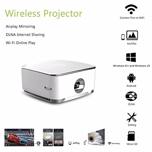 Pocket projector elegiant1080p 120 display beamer for Wireless micro projector