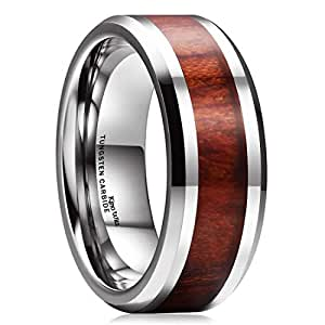 Amazon.com: Cómodo anillo de bodas King Will NATURE ...
