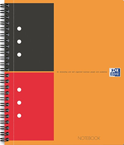 Oxford International A4+ Hardback Wirebound Notebook, Narrow Ruled with Margin and Perforated, 80 Page, 1 Notebook (Margin Ruled Notebook)