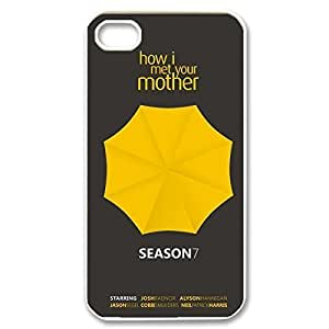 Fashionable How I Met Your Mother Design Sublimation Printed Personalized Case Cover for iPhone 4/iPhone 4s _White 30709