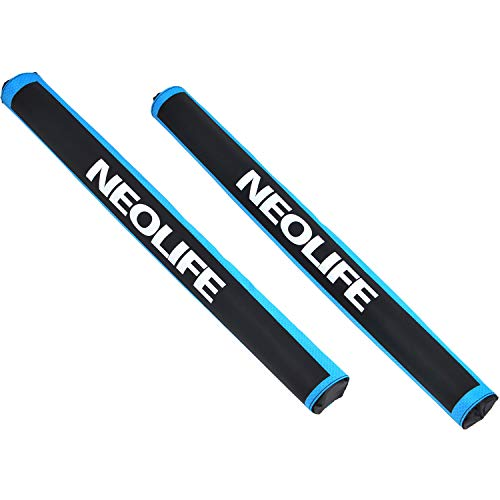 - Neolife Aero Round Roof Rack Pads for Car Surfboard Kayak SUP Snowboard Racks 28 Inch Long Blue [Pair]