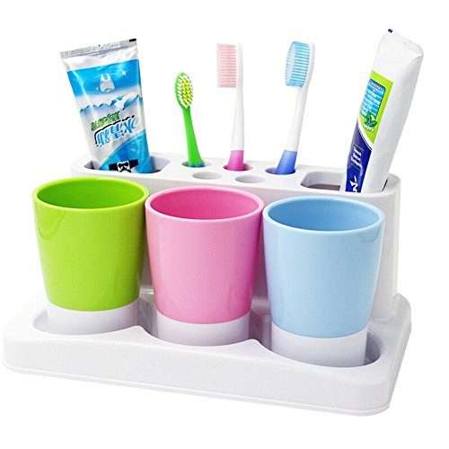 Plastic Bathroom Toothbrush Holder Storage