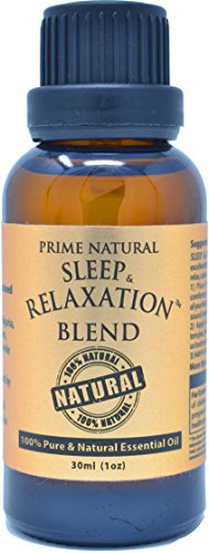 Sleep & Relaxation Essential Oil Blend 30ml/1oz - 100% Natural Pure Undiluted Therapeutic Grade for Aromatherapy Scents Diffuser - Natural Sleep Aid, Depression Stress Anxiety Relief Boost Mood