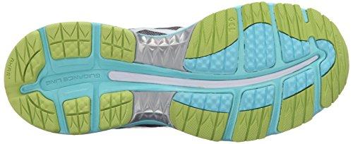 Vrouwen Asics Gel Nimbus 18 Sportschoen Titanium / Wit / Turquoise