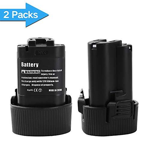 Powayup for Makita 10.8 Volt Battery 3.0Ah 10.8V - 12V Max Lithium ion BL1014 BL1013 194550-6 194551-4 Drill Power Tools (2Packs)