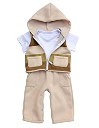 """Joined At The Hip """"Niko"""" style - Boy's one-piece fleece jumpsuit with attached vest"""