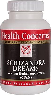 Health Concerns - Schizandra Dreams - Valerian Herbal Supplement - 90 Tablets