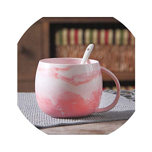 320ml Creative Ceramic Mug With Spoon and Cover Special Slotted Cup Mug,14