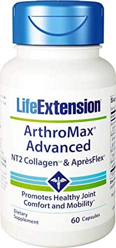Life Extension ArthroMax Advanced with NT2 Collagen and ApresFlex, 60 Capsules (Pack of 2)