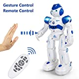 JIMITE Remote Control Robot Kids, Intellectual Gesture Sensor & RC Remote Control Rechargeable Robot Toys Kids Walking, Sliding, Turning, Singing, Dancing, Speaking Teaching Science