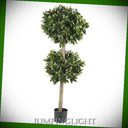 - JumpingLight 5311 57'' Sweet Bay Double Ball Topiary Silk Tree Artificial Flowers Wedding Party Centerpieces Arrangements Bouquets Supplies
