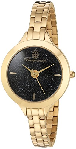 Burgmeister Women's BM536-222 Analog Display Analog Quartz Gold Watch