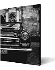 Wall Art Printed wood Tableau, classic car 30x20cm, for Home and office Decor