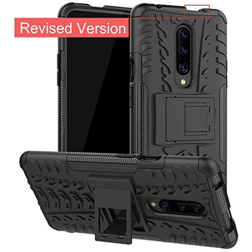 Oneplus 7 Pro Case,Osophter Dual Layer Shock-Absorption Cover Full-Body Protective Cell Phone with Kickstand Combo PC+TPU Back Cases for One Plus 7 Pro(Black)