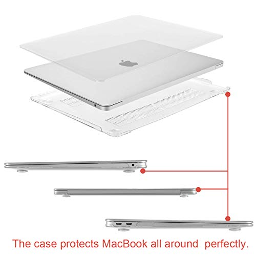 MOSISO MacBook Air 13 Inch Case 2018 Release A1932 with Retina Display, Plastic Hard Shell & Keyboard Cover & Screen Protector & Storage Bag Only Compatible Newest MacBook Air 13, Crystal Clear by MOSISO (Image #4)