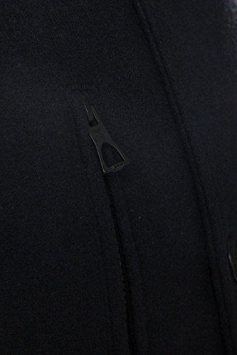 Cappotto Giacca Foderato Lana Petto Navy Con Colletto Misto Doppio Threadbare A Uomo wZtHzz
