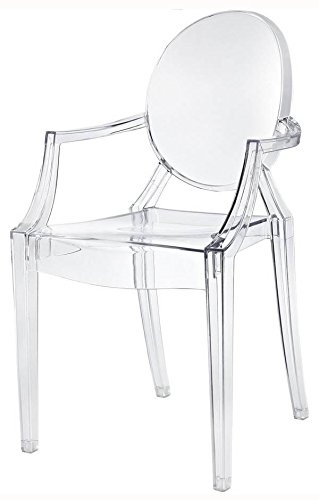 Pantom Chair amazon com phantom chair with arms in clear set of 4 kitchen