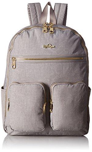 Tina Large Laptop Backpack Backpack, SLATE GREY CROCODILE, One Size