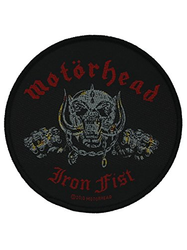 Motorhead Iron Fist Skull Patch Black 9.3x9.3cm - Motorhead Skull Jackets