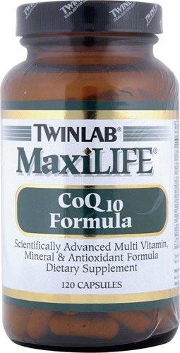 Twinlab MaxiLIFE® CoQ10 Formula -- 120 Capsules - 2PC