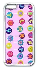 Alphabet Lollipops HAC1014009 Polycarbonate Hard Case Cover for iphone 6 plus 5.5inch Transparent