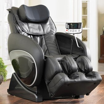 6027 Robotic Zero Gravity Heated Reclining Massage Chair Upholstery: Brown (Massage Cozzia)