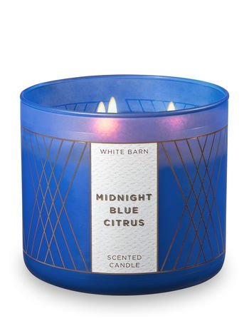 Body Blue Bath (White Barn Candle 3 Wick 14.5 Ounce Midnight Blue Citrus)