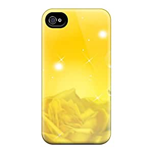 New Fashionable LESH BER3068NAxA Cover Case Specially Made For Iphone 4/4s(beauty Of Yellow)