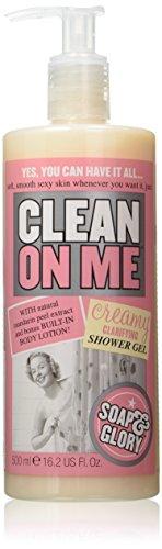 Soap & Glory Clean On Me Creamy Clarifying Shower Gel 500Ml - Alpha Hydroxide Acid