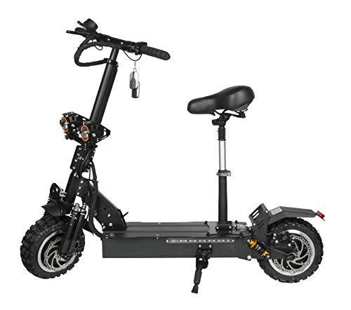 igh Speed Commuting Electric Scooter -Portable Folding, 40MPH and 45 Miles Range of Riding, 2400W Motor Power and 330lb Load (RS2 with Seat) ()